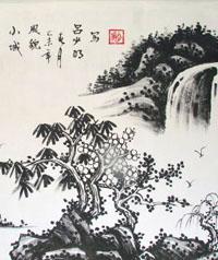 北京非鱼墙绘国画工笔
